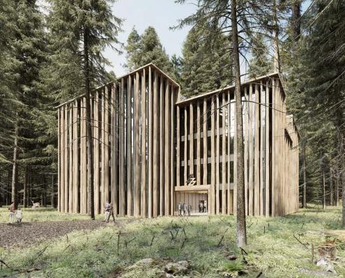 Entwurf des Architekten fuer das neue Ziegler Group Verwaltungsgebaeude