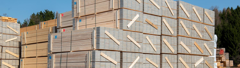 Lagerung von Holz