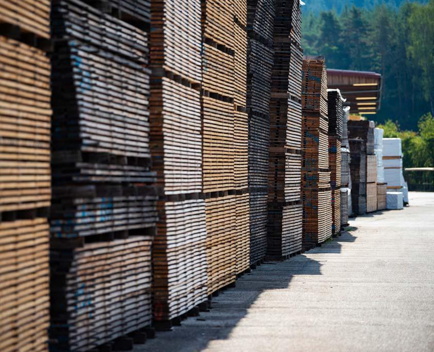 Schnittholzlager in Pressath