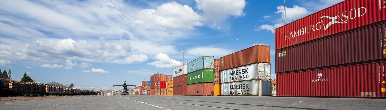 Lagerung von Containern