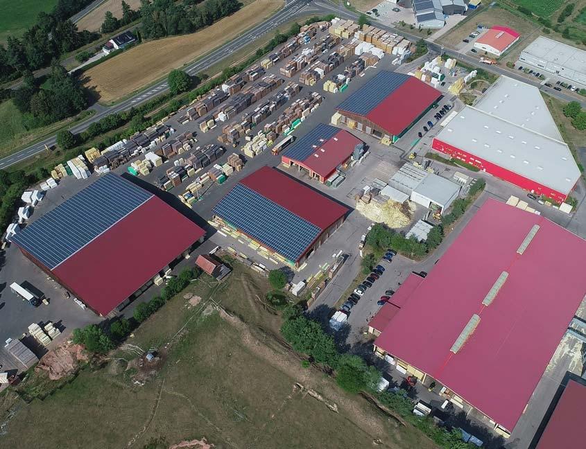 Luftbild des Geländes in Pressath