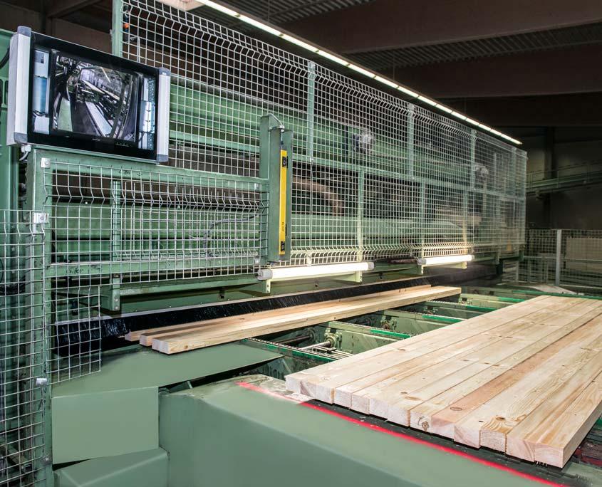 Anlage in der Holzproduktion