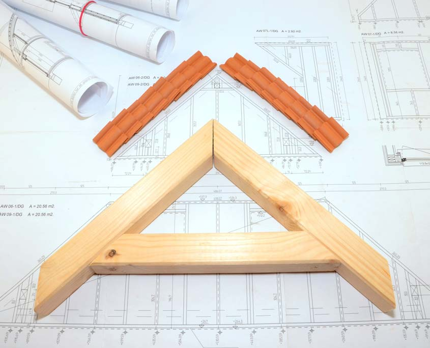 Planung eines Dachstuhls